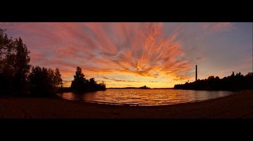 Sunset at Pyynikki on 30.9.2011