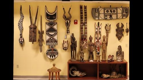 African Masks Wall