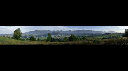 TATRY - panorama z Rusinskiego Wierchu