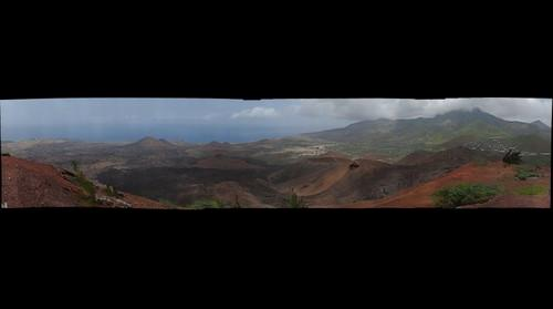 View from Sister's Peak, Ascension Island, South Atlantic Ocean