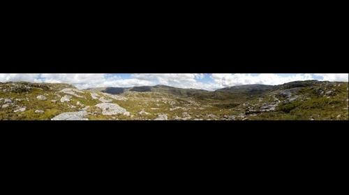 Between Loch Beag and Eas a' Chual Aluinn