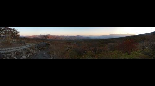 Mt Fuji from across Kiyosato at sunset