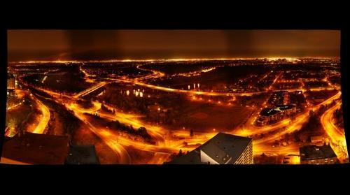 Edmonton River Valley at night from 30th Floor
