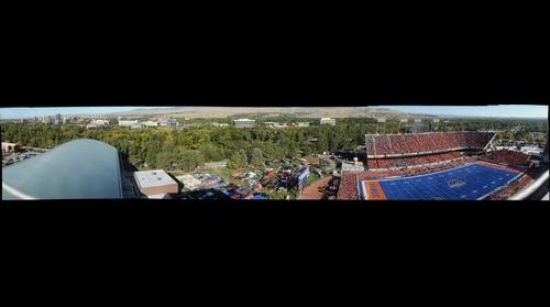 Downtown Boise and Bronco Stadium