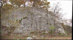 Mudcrack Wall, limestone quarry on Old Route 55, West Virginia