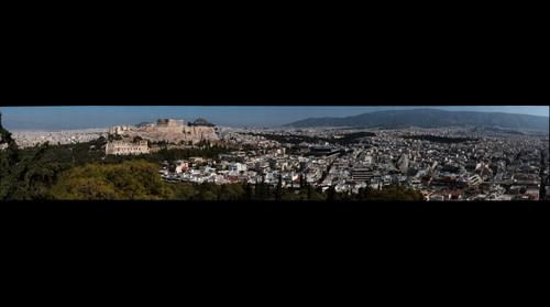 View of Athens from Philipappos hill