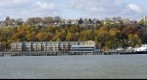 Jersey side of the Hudson River with fall colors