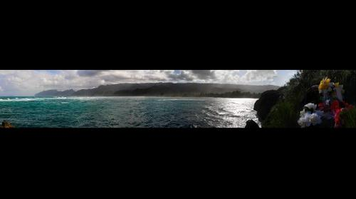 Laie Point, view to Hauula and Kaawa