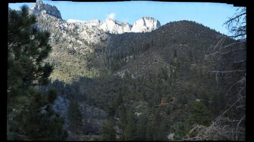 Mt Charleston Area from Cabin