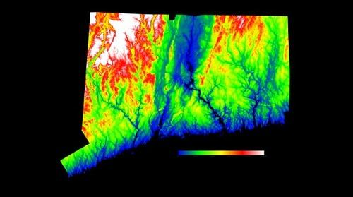 LiDAR Elevation Map - State of Connecticut