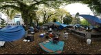 Occupy Portland 10.28.11 Camp Chapman Square - Back of Kitchen