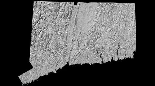 LiDAR Hillshade Image - State of CT