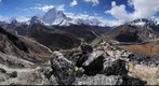 Ama Dablam as seen from Nangartschang hill over Dingboche village