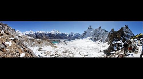 View over Gokyo valley from Renjo La pass