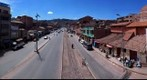 View of Cusco, Peru, Avenida del Ejercito from Calle Belen