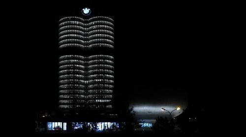 BMW Office and Museum at Night
