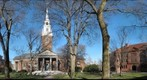 Harvard Yard Panorama with Memorial Church Cambridge Massachusetts USA