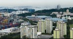 Singapore scene from high rise building