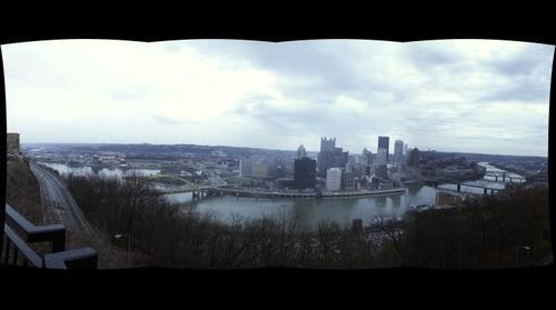 Time Machine Pittsburgh Test: 18mm 4x1 from Grandview East Viewing Platform