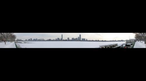 Charles River Boston Winter Frozen