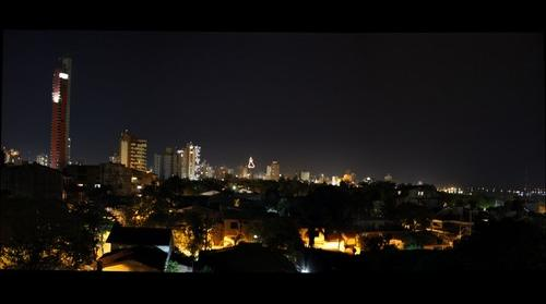 Asuncion downtown by night