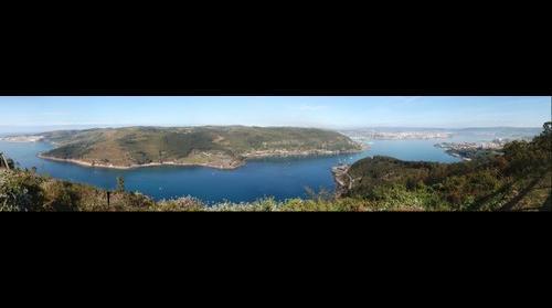 Ferrol from Bailadora mountain, SPAIN, near