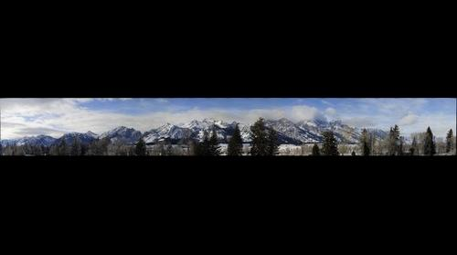 Tetons From Moose WY