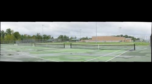 Tennis Court at Huntington High School
