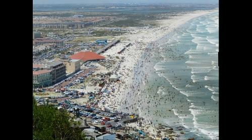 Muizenberg Beach, Cape Town on Boxing day