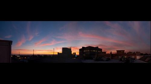 Sunset from LA, Thurs Dec 29, 2011