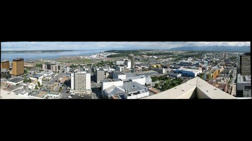 View of Anchorage, Alaska, looking north