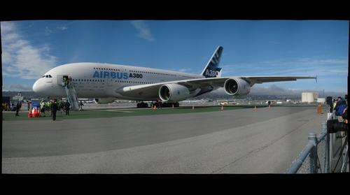 Airbus A380 at Port