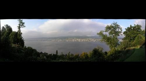 View over the lake of Zurich from Herrliberg