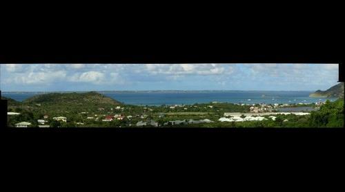 Northwest Saint Martin - La Savane & Grand Case looking North toward the island of Anguilla