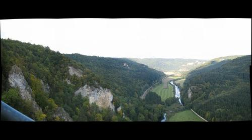 Look of the Knopfmacher-rock into the upper Danube valley