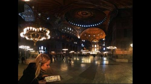 Karin in Hagia Sophia