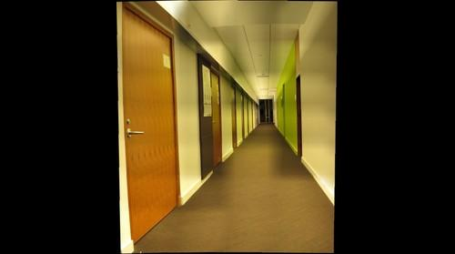 The green hallway