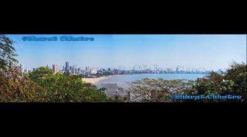 Marine Drive from Kamla Nehru Park view