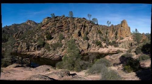 The Reservior at The Pinnacles, central California Coast Ranges