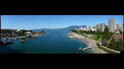 Vancouver English Bay from Burrard Bridge