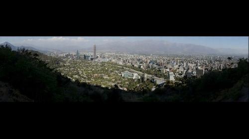Cerro San Cristobal, desde Mirador en Santiago de Chile, Gigafoto por www.fuicafoto.cl