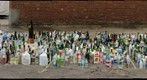 Manhattan, built from bottles and cans