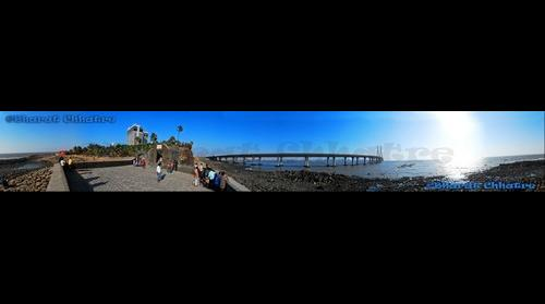 360 view at Bandra Fort, Mumbai.