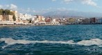 Chania city at harbour, Crete, Greece