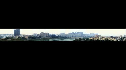 广西南宁葫芦鼎大桥向东拍摄