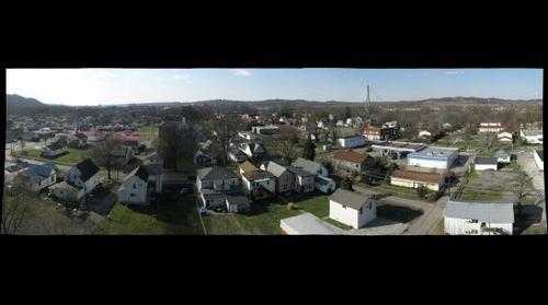 aerial view west guyandotte