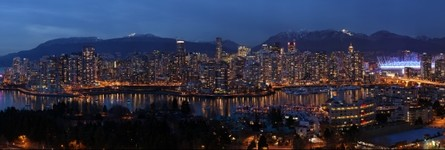Vancouver Skyline from Fairview at Dusk