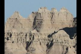 Classic Badlands Topography