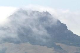 Hollister Peak in fog