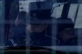 Police man sleeping